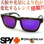 SPY HELM smoke tort Happybronze/Purple spectra & 超高性能多機能 調光偏光レンズ DRIVE WEAR ドライブ ウエア