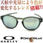 OAKLEY LATCH(asian fit) matte olive ink/emerald iridium & 超高性能多機能 偏光調光レンズ DRIVE WEAR ドライブ ウエア