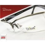 【メガネ度付】Dixon Collection Eyewear ハーフリム Gun ダブルブリッジ 眼鏡一式 《送料無料》】+カラーレンズ無料キャンペーン中【伊達メガネ対応】