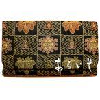正絹御念珠入れ 京都西陣織数珠袋 石畳輪宝笹文様 和柄マルチケース 名物裂あらいそ