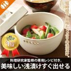 漬物容器 日本製 鉢 浅漬け名人 器 食器 陶器 漬物石 浅漬け器 志野焼 [美味しい浅漬けすぐ出せる][メール便対応不可]