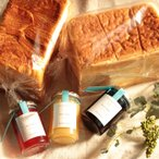 【送料無料 母の日 ギフト・プレゼント セット】3種のジャム と 生クリーム 食パン 1.5斤 ・ デニッシュ食パン 1.5斤 の 豪華5点セット