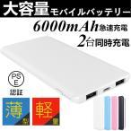 6000mAh大容量のモバイルバッテリー!安心のPL保険商品