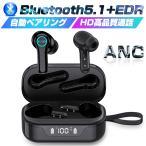 ワイヤレスイヤホン Bluetooth 5.1 ヘッドセット バージョンアップ 防水 Type-C 充電ケース付き HIFI高音質 クリア 電池残量表示 片耳/両耳通用 耳にフィット