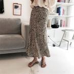 ショッピングヒョウ柄 スカート ロングスカート レオパード柄 ヒョウ柄 ひょう柄 ミモレ丈 プリーツスカート