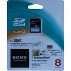 【全品送料無料】【大口割引:2枚よりお承り!】SONY SDHCカード 8GB CLASS4 高速[海外版パッケージ]【SDメモリー  SDカード 8GB】