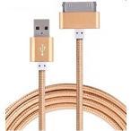 Yahoo!iphoneグッズの秋葉原お得!【アルミ合金/ナイロン製/1M/お色指定不可】iphone4 iphone4s 充電ケーブル 3GS 4 4s ケーブル USB充電器 断線しにくいタイプ
