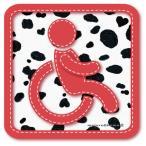 ダルメシアン柄 車椅子マーク 車椅子 ステッカー /車いす 車イス 福祉車両