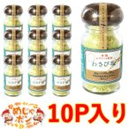 調味料わさび塩 わさび塩 45g×10個 シママース 使用 アクアグリーン 島マース