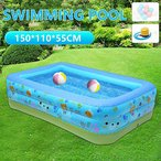 LoveStory_jp 子供用プール 大型 子供・大人 ビニールプール 水遊び 猛暑対策 スイミング 空気入れつき 家庭用プール 屋内用 お庭 折り