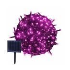 RPGT ソーラーライトストリング 13m 100LED 太陽発電 USB充電式 防水 ガーデンライト クリスマスパーティー 屋外配置 クリスマスツリー 誕生日 ウェディングパーティデコレーション ピンク