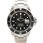 ロレックス サブマリーナデイト メンズ 腕時計 自動巻き ステンレススチール 黒文字盤 16610 ROLEX