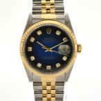 ロレックス DJ デイトジャスト 10Pダイヤ メンズ腕時計 K18×ステンレススチール 自動巻き ブルーグラーデション文字盤 16233G W番 ROLEX