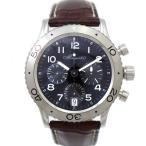 ブレゲ 腕時計 タイプXX トランスアトランティック 3820STH29W6 Breguet メンズ SS×レザー ブラック文字盤 オートマ 時計