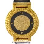 ヴェルサーチ レディース腕時計 メデューサ 7008011 Versace 文字盤ゴールド×ブラック ボーイズ GP クオーツ