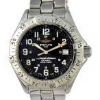 ブライトリング メンズ腕時計 スーパーオーシャン1000M BREITLING 文字盤黒 自動巻き SS