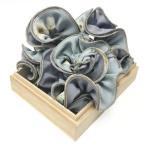 シュシュ フラワープリントシュシュ ヘアアクセサリー 花柄 フラワー スモーキーカラー ミント ブルー グレー プレゼント ギフト メロウストア