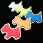 「福袋対象商品」 ヘアゴム ラインストーン付きカラフルテリアモチーフヘアゴム レディース キラキラ 犬 ミニサイズ