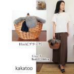 kakatoo/カカトゥのファーフラップマルシェかごバッグ