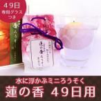 ミニ ろうそく 蓮の香 グラスつき 蓮の花の香り 大切な人の49日用