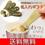 代金引換不可【名入れギフト】じわっととろけるアイスクリームスプーン 1個 ホワイトデー アルミ製 名入れ ギフト 送料無料