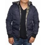 アーバンリサーチ URBAN RESEARCH ダウンジャケット リバーシブル 紺  迷彩 カーキ メンズ 冬物 ネイビー 男性用 カモフラージュ カモ柄