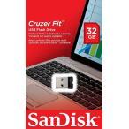 メール便可 SanDisk USB2.0 USBフラッシュメモリ 超小型 Cruzer Fit CZ33 32GB SDCZ33-032G サンディスク 海外パッケージ品