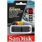 送料無料 SanDisk Extreme USB3.0 高速 USBフラッシュメモリ 128GB SDCZ80-128G サンディスク 海外パッケージ品