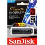 SanDisk Extreme GO USB3.1 Gen1 R:200MB/s W:150MB/s USBフラッシュメモリ 64GB SDCZ800-064G サンディスク 海外パッケージ品