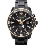 送料無料 SEIKO セイコー メンズ腕時計 スポーチュラ キネティック SPORTURA KINETIC GMT ブラック SUN026P1