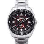 送料無料 SEIKO PROSPEX セイコー プロスペックス メンズ腕時計 キネティック KINETIC GMT シルバー×ブラック SUN049P1