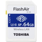 SDカード 64GB 東芝 フラッシュエアー SDXC THN-NW04W0640 海外パッケージ品