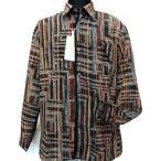 ショッピングプリント アド・ポール porl pure ポリエステルジョーゼット 和柄プリント メンズ 長袖レギュラー襟シャツ A