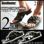LOVE HUNTER ラブハンター お兄系 サンダル ハナオタイプ 2色展開 メンズ BLACK BLACK-WHITE