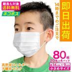 マスク 在庫あり 送料無料 国内発送 80枚 箱 不織布 使い捨てマスク プリーツマスク 女性 子ども用 使いすて 花粉症 花粉 ウイルス
