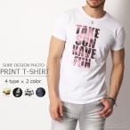 Tシャツ メンズ サーフ系 フォト プリント Tシャツ