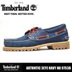 カジュアルシューズ メンズ 靴 本革 ティンバーランド オーセンティクス スリーアイラグ デッキシューズ Timberland AUTHNTIC 3EYE NAVY NB 9753B