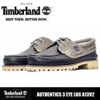 カジュアルシューズ メンズ 靴 本革 ティンバーランド オーセンティクス スリーアイラグ Timberland AUTHENTICS 3EYE LUG LEATHER AND FABRIC A13V2