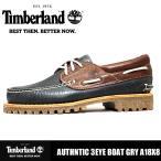 カジュアルシューズ メンズ 靴 本革 ティンバーランド オーセンティクス スリーアイラグ デッキシューズ Timberland AUTHNTIC 3EYE BOAT GRY A18X8