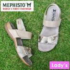 MEPHISTO メフィスト レディース カジュアル サンダル オープントゥ マジックテープ スネーク 蛇柄 AGAVE 2631/BOA3302 CAMEL ハンドメイド 革 レザー 靴