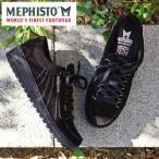 MEPHISTO メフィスト カジュアルシューズ 革 レザー スエード RAINBOW BLACK 9800 VELOURS