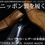 日本製 本革 バッファローレザー 水牛革 ビジネスシューズ 靴 ストレートチップ スリッポン ヴァンプ Terra Rossa  テラロッサ