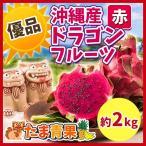 ☆送料無料☆ 沖縄県産 ドラゴンフルーツ赤 約2kg シークァーサー100g プレゼント付き!