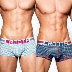 ボクサーパンツ メンズ ブランド Croota クルータ  Angular Pattern Hipster ローライズボクサー (AP メンズ 男性下着)