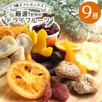 ドライフルーツ ギフト 9種ミックス オレンジ いちご キウイ パイナップル クランベリー マンゴー デーツ いちじく アプリコット