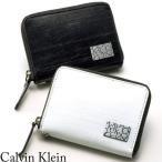 CK カルバンクライン 財布 小銭入れ 定期入れ パスケースコインケース メンズ プレッソ 832608 本革 牛革