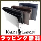ショッピングラルフローレン ラルフローレン メンズ 財布 折り財布 二つ折り スムースレザー