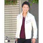 アウター メンズ ブルゾン ジップジャケット ジップデザインオーロラスエードジャケット