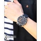 時計 メンズ カジュアル 腕時計 フェイククロノグラフウォッチ