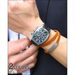 腕時計 時計 メンズ カジュアル クラブフェイスPUレザーウォッチ